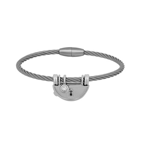 Charriol My Heart Stainless Steel Bangle