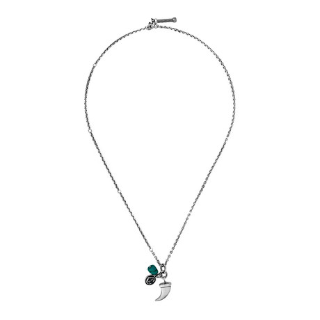 Charriol Kucha Stainless Steel + Turquoise Necklace II