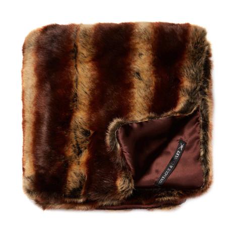 """Chinchilla Luxe Throw/Blanket // Chestnut (50""""L x 65""""W)"""