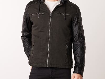 Photo of CLEARANCE: Outerwear We've Got You Covered Pu Jacket // Black (L) by Touch Of Modern