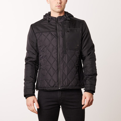 Quilted Jacket // Black (XL)
