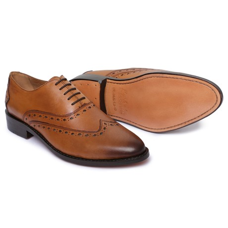 Wingtip Oxford Goodyear Welted // Tan (US: 8)