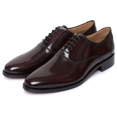 Medallion Toe Goodyear Welted // Burgundy (US: 8)