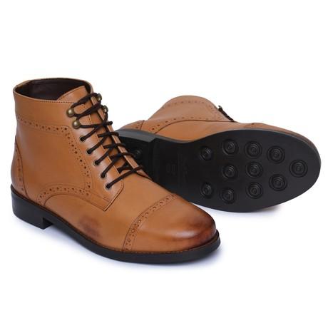 Toecap Lace Up Boots // Tan (US: 8)