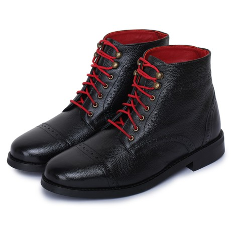 Toecap Lace Up Boots // Black (US: 8)