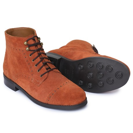 Toecap Lace Up Boots // Brandy (US: 8)