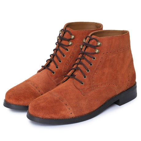 Toecap Lace Up Boots // Brandy (US: 8)