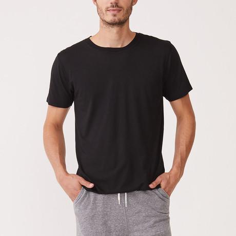 Cotton Modal Crew Neck Tee // Black (XL)