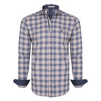 Octans Dress Shirt // Navy + Beige (S)