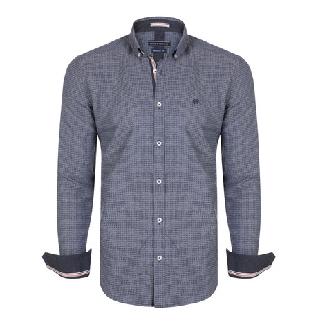 Pegasus Dress Shirt // Grey + Navy (XS)