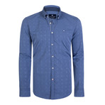 Aquila Dress Shirt // Sax + Blue (2XL)