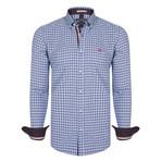 Perseus Dress Shirt // Blue + Navy + Red (XS)