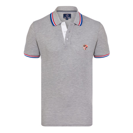Kirkham Short Sleeve Polo Shirt // Gray Melange (S)