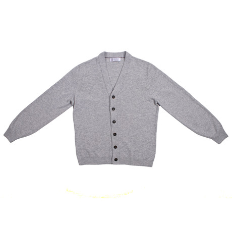 Vincenzo Cashmere Blend Cardigan // Gray (Euro: 46)