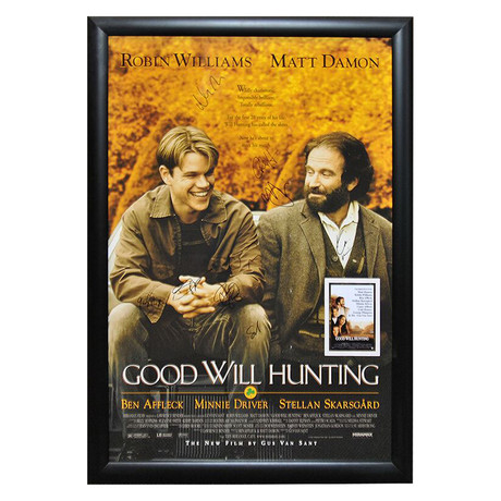 Signed + Framed Poster // Goodwill Hunting
