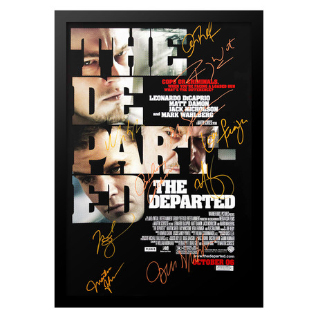 Signed + Framed Poster // The Departed