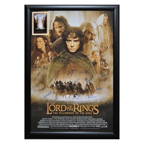 Signed + Framed Poster // Lord of the Rings: Fellowship of the Ring