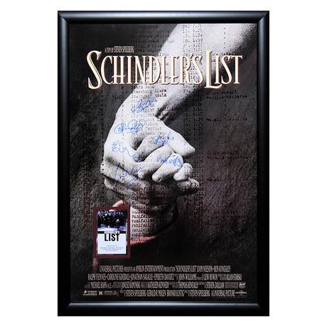 Signed + Framed Poster // Schindler's List