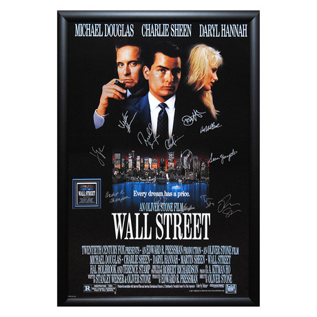 Signed + Framed Poster // Wall Street