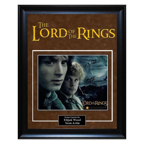 Signed + Framed Artist Series // Lord of the Rings // Elijah Wood + Sean Astin