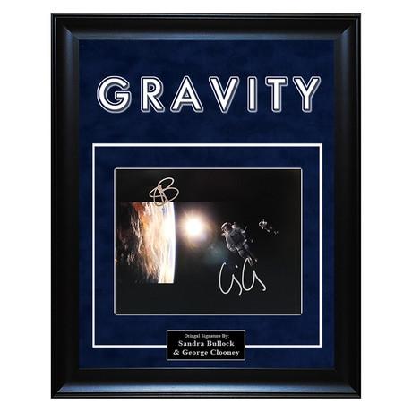 Signed + Framed Artist Series // Gravity // Sandra Bullock + George Clooney