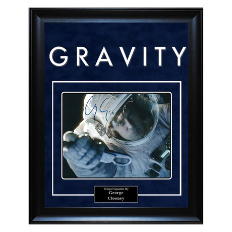 Signed + Framed Artist Series // Gravity // George Clooney
