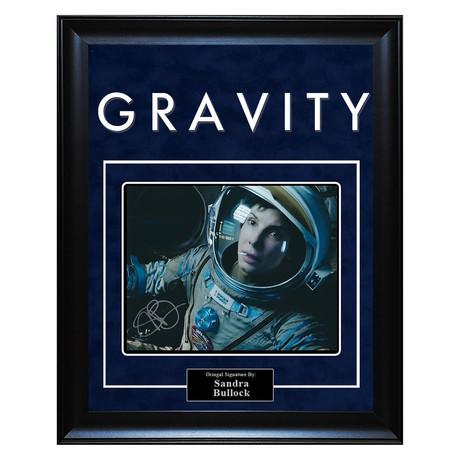 Signed + Framed Artist Series // Gravity // Sandra Bullock
