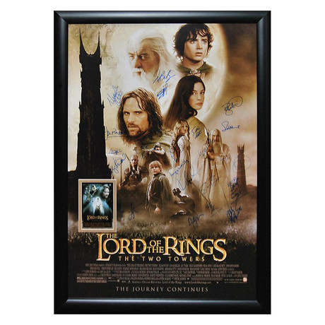 Signed + Framed Poster // Lord of the Rings: The Two Towers