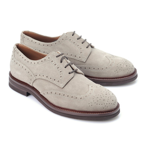 Suede Brogue Derby // Tan (Euro: 39)