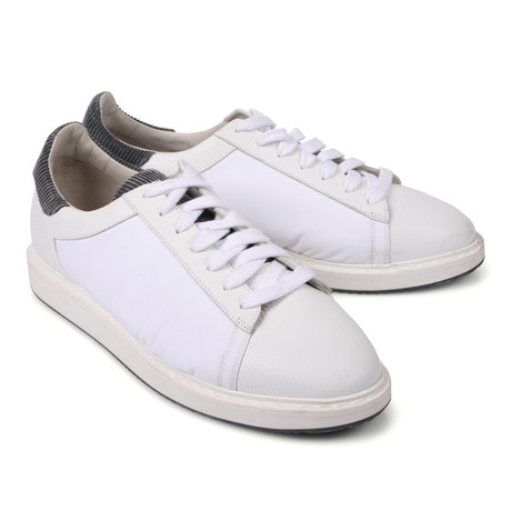 Contrast Fabric Lace-Up Sneaker // White (Euro: 39)