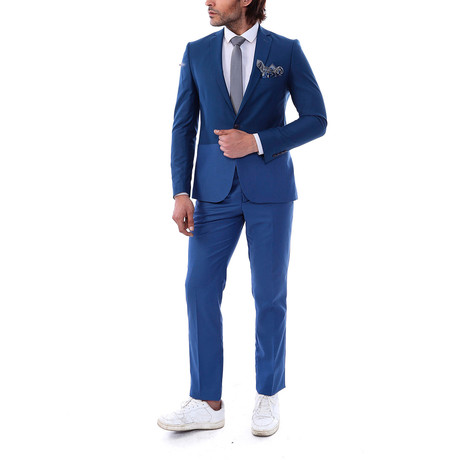 Wilmer 2-Piece Slim-Fit Suit // Blue (US: 34R)