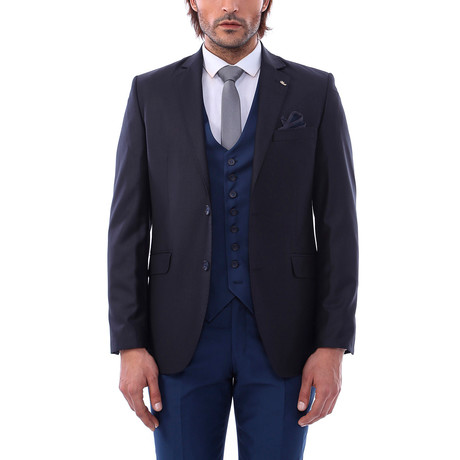 Enzo 3-Piece Slim Fit Suit // Navy (Euro: 44)