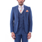 Brooks 3-Piece Slim Fit Suit // Navy (Euro: 48)