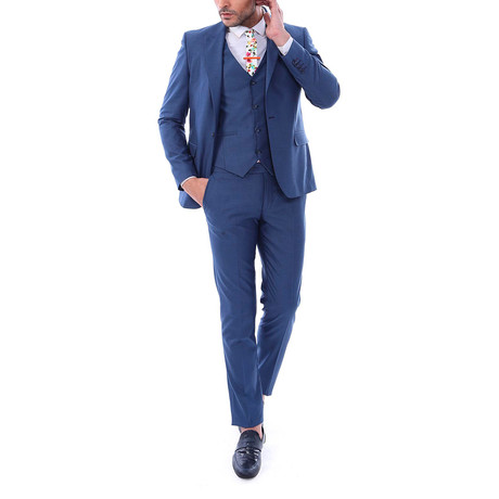 Brooks 3-Piece Slim Fit Suit // Navy (Euro: 42)