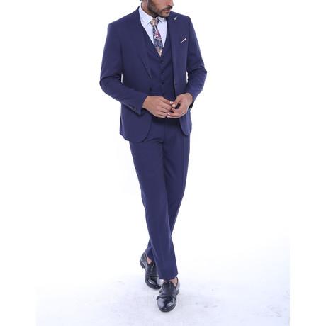 Zayden 3-Piece Slim Fit Suit // Navy (US: 34R)