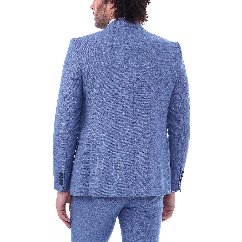 866f2c7e43f5 Orion 3 Piece Slim Fit Suit // Light Blue (Euro: 56) - CLEARANCE ...