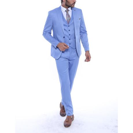 Reid 3-Piece Slim Fit Suit // Light Blue (US: 34R)