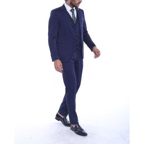 Beckett 3-Piece Slim Fit Suit // Navy (US: 34R)