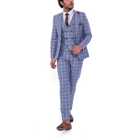 Porter 3 Piece Slim Fit Suit // Grey (Euro: 48)
