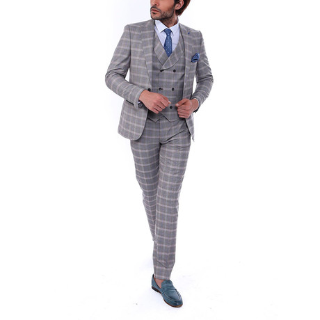 Topher 3-Piece Slim Fit Suit // Mink (Euro: 44)