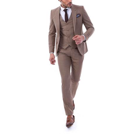 Walter 3 Piece Slim Fit Suit // Mink (Euro: 44)