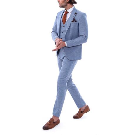 Dexter 3-Piece Slim Fit Suit // Light Blue (Euro: 44)