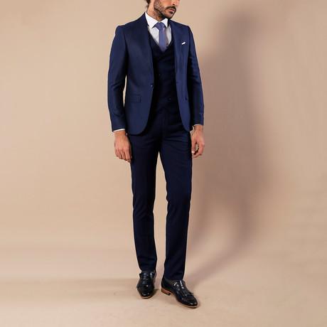 Carson 3 Piece Slim-Fit Suit // Navy (Euro: 44)