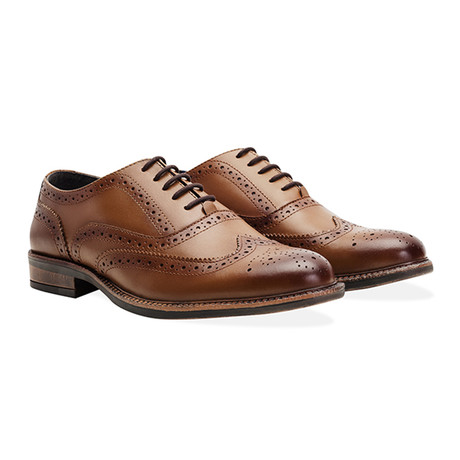 Chunky Oxford Brogue Shoe // Tan (UK 7)