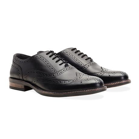 Chunky Oxford Brogue Shoe // Black (UK 7)
