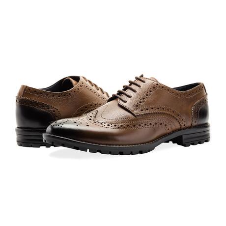 New Edenfield Derby Brogue Shoe // Tan (UK 7)