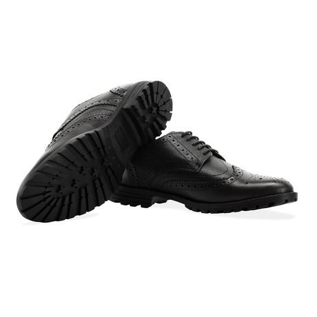 New Edenfield Derby Brogue Shoe // Black (UK 7)