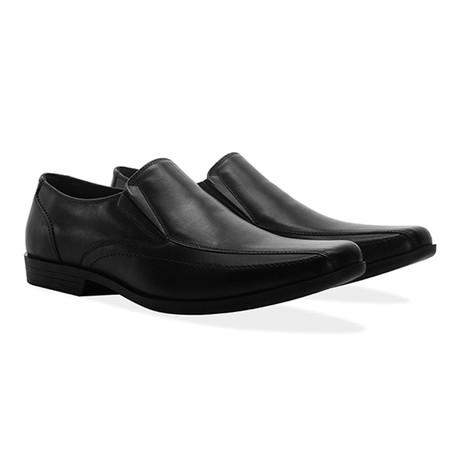 Leather Twin Gusset Loafer Shoe // Black (UK 7)