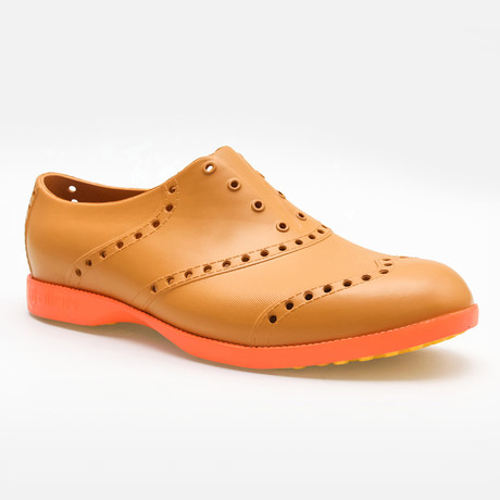 Brights Oxford // Leather + Orange (US: 7)