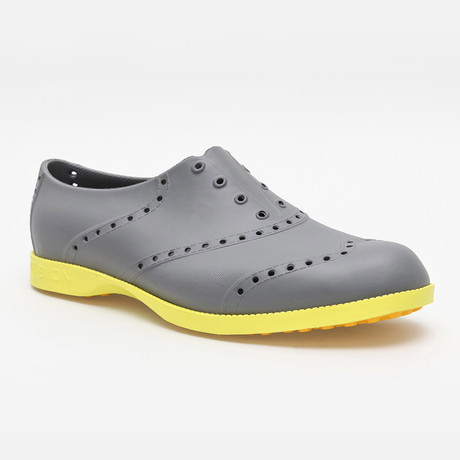 Brights Oxford // Gray + Neon Green (US: 7)